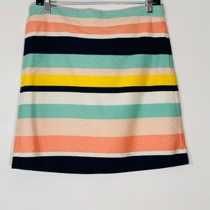 Loft Outlet Pencil Straight Striped Back Zip Skirt